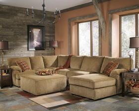charming modern furniture living room corner fabric sofa sectional mcno422 | 812 Chenile Fabric with Optional Ottoman
